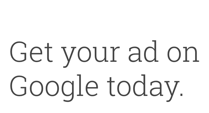 Google advertising sign up